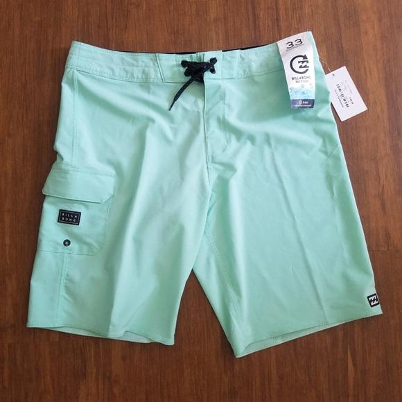 SOLD Billabong Board Shorts Swim 33 Turquoise Teal